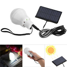 Portable Solar Panel Powered LED Bulb Light Outdoor Camping Tent Energy Lamp 15W