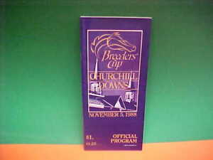 1988 - Breeders Cup  program in MINT Condition New