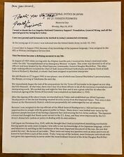"""YOSHITO FUJIMOTO, 100% AUTHENTIC AUTOGRAPHED 8 1/2"""" x 11"""" LETTER, WWII VET, WOW"""