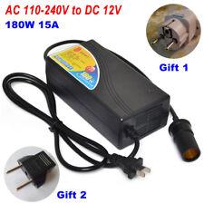 180W 15A Car Cigarette Lighter Transformer AC 220V to DC 12V Home Use Converter