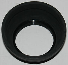 Hoya 49mm screw-on threaded rubber lens hood made in Japan