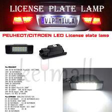 2X White PEUGEOT/CITROEN LED License Plate lamp Light