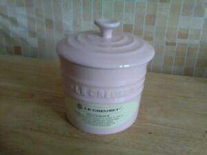 Le Creuset Kitchen Stoneware Lidded Storage Jar 0.8L Pink New