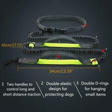 Running Reflective Pull Dog Leash Double Elastic D-ring Pet Traction Rope