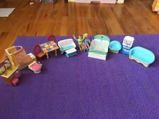 VINTAGE FISHER PRICE LOVING FAMILY DOLLHOUSE LOT!!!