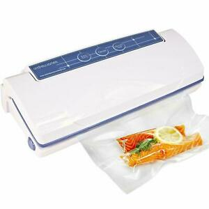 Food Sealer Domestic White Dual Function With 15 Reusable Bags Andrew James