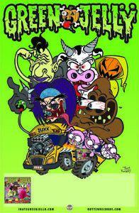 GREEN JELLY - Promo Poster - MUSICK TO INSULT YOUR INTELLIGENCE BY - JELLO