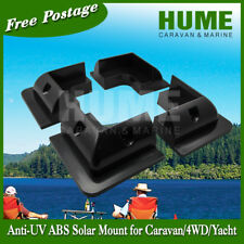 Black Corner Solar Panel Mount Bracket Anti UV Caravan Boat RV- 4 for 1set