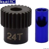 Hot Racing NSG824 24t Steel 48p Pinion Gear 5mm or 1/8