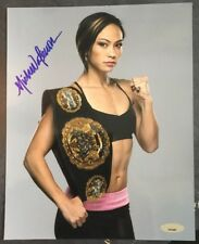 Michelle Waterson UFC Signed 8x10 Photo Autograph (Title Belt) Karate Hottie