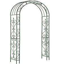 More details for metal garden patio loire arch rose arbour archway climbing plant trellis black