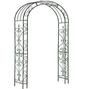 Metal Garden Patio Loire Arch Rose Arbour Archway Climbing Plant Trellis Black