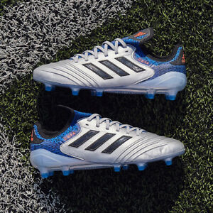 adidas Copa 18.1 FG Mens Football Boots Leather Silver Blue SIZE 6 7 8 9 10 11