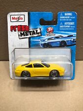 New Short Card Maisto 2007 Fresh Metal 1:64 Porsche 911 Carrera 4S 99 Yellow A4