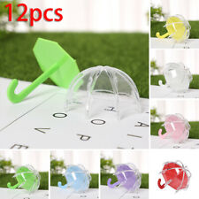12pcs/Set Wedding DIY Umbrella Candy Box Baby Shower Birthday Favor Sweets Bag