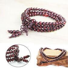 2pcs Sandal wood Buddhist Prayer Bead Bracelet Good Luck Necklace 6mm 108 Beads