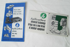 Vtg Hallicrafters Shortwave Ham Radio Cb Advertisements Models Ephemera