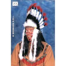 Raging Bull Native Indian Headdress - Fancy Sitting Headress Wild West American