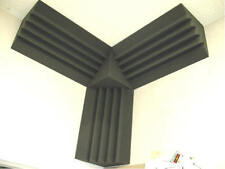 "10"" STUDIO ACOUSTIC WEDGE FOAM CORNER KIT BASE ABSORBERS"