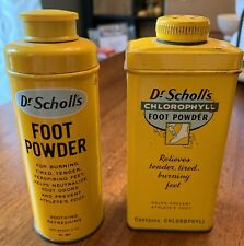 Set Of 2 VINTAGE DR. SCHOLLS  FOOT POWDER In Tins