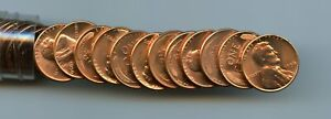 1956-P Choice/Gem Full red Lincoln cent roll
