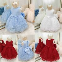 Flower Baby Girls Tutu Dress Princess Bridesmaid Toddler Formal Birthday Outfits