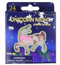 6PKS GLOW IN DARK UNICORN SHAPES LOOT BAG FILLERS BIRTHDAY PARTY GIRLS FAVOURS