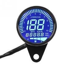 Retro Motorcycle LED LCD Tachometer Speedometer Fuel Gauge for Cafe Racer 12V