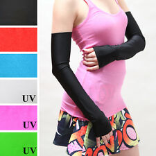 Long Opera Gloves Black PVC Shiny Arm Warmers Sexy Nylon Wet Look Vinyl Diy 1285