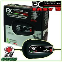 BC Battery Easy 3 Cargador + Mantenedor Cargador Moto Scooter Hecho en Italia