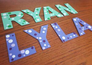 Painted Wooden Letters for a Door, Wall Or Toy Box *ANY NAME & ANY COLOURS*  #2