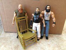 WWE Mattel Wyatt Family Bray Luke Harper Erick Rowan Figure lot of 3 Loose