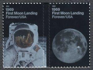 #5400a Moon Landing 50th, Se-Tenant Pair, Mint **ANY 4=FREE SHIPPING**
