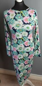 Womens multocoloured floral long sleeve/Length Dress, Size 12, Alice & You