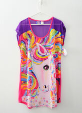 Lisa Frank for Target Unicorn Horse Nightgown Sleep Shirt Dress 90's Pajama L/XL