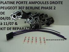 KIT REPARATION CONNECTEUR / PLATINE PORTE AMPOULES PEUGEOT 307 PH 2 DROITE NEUF
