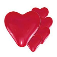 Red Heart Shaped Balloons Pack of 5 Valentines Day
