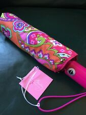 VERA BRADLEY Umbrella PINK SWIRLS New with Tags!