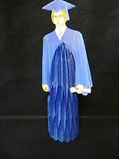 Beistle BOY in BLUE GOWN CENTERPIECE Honeycomb GRADUATION Decoration PARTY