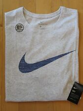 NWT Men's NIKE Big & Tall Dri-Fit Crewneck Swoosh SS T-Shirt 3XLT GRAY/BLUE