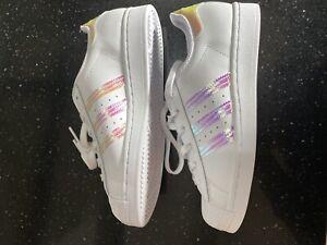 Adidas Superstar Hologram UK 5.5 US 6Y
