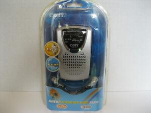 Brand NEW COBY CX17 Portable AM/FM/TV/Weather Band Radio (NIB)