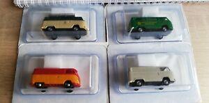 4 x Brekina Volkswagen  , Bus Bulli Bully, siehe Fotos