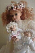 Porcelain Angel Doll w 2 Miniature Baby Dolls Bless The Children Ltd Mib