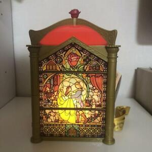 Tokyo Disney Resort Beauty and the Beast Popcorn Bucket lamp Stained glass style