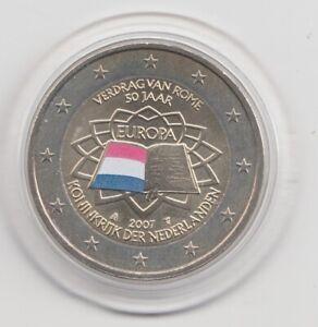 Niederlande  2 €  Römische Verträge   2007  coloriert  Farbmünze