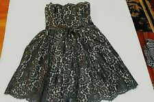 NEIMAN MARCUS TARGET Robert Rodriguez Lace Strapless Party Prom Black Dress 2