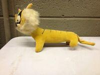 Vintage Stuffed Tiger Lion Cat Mohair (a225)