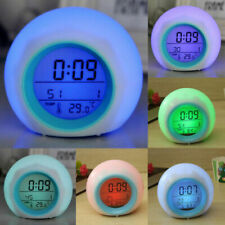 7 Color Changing Led Digital Alarm Clocks Snooze Light Home Decor For Kid's Gift