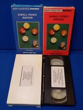 Lot of 4 Burt Kinister Pool Billiard Instructional VHS Videos Mighty X 9-Ball